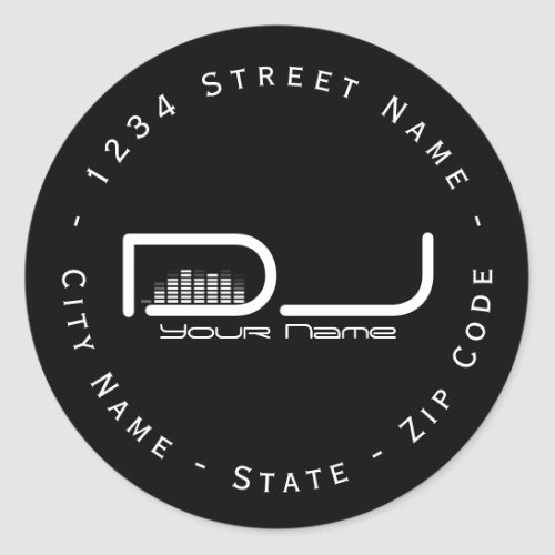Circular DJ Equalizer Return Address Label