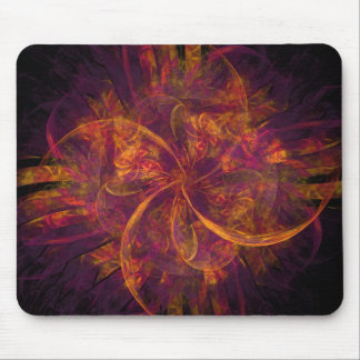 Circular Fire Mouse Pad Design Mouse Pads