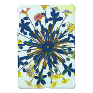 Circular Floral Ceramic Vintage Lighting Case For The iPad Mini