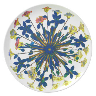 Circular Floral Ceramic Vintage Lighting Dinner Plate