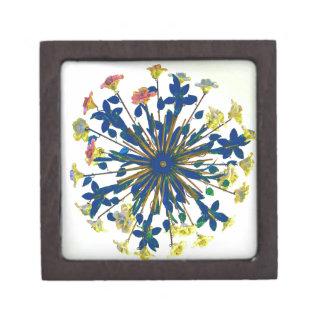 Circular Floral Ceramic Vintage Lighting Gift Box