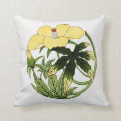 Circular Flower Motif Throw Pillow