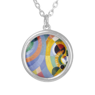 Circular Forms by Robert Delaunay Round Pendant Necklace