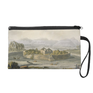 Circular fortress of Cannar, Peru, from 'Le Costum Wristlet Purse