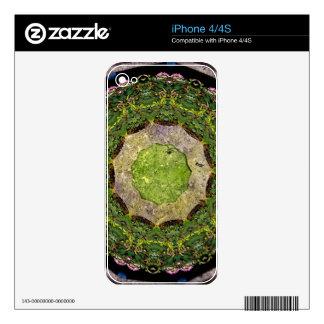 Circular Garden Decals For iPhone 4S
