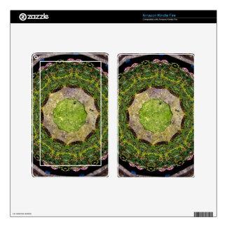 Circular Garden Skins For Kindle Fire