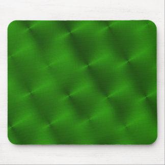 circular green brushed metal mouse pad
