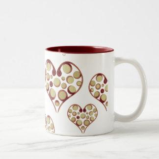 Circular Hearts Mug
