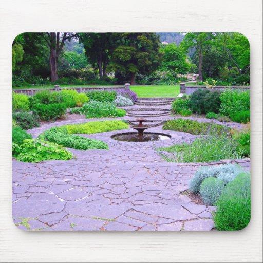 Circular Herb Garden with Fountain Dunedin NZ Mouse Pad