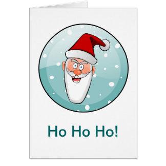¡Circular Ho Ho Ho! Santa en trullo Tarjetón