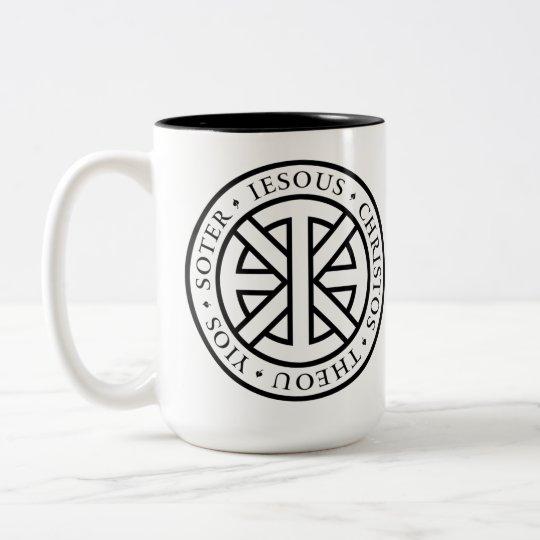 Circular Ichthys Two-Tone Coffee Mug