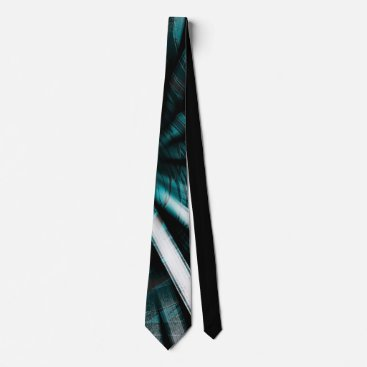 Professional Business Circular Lines Aqua - Tie