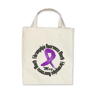 Circular - mes de la conciencia del Fibromyalgia Bolsa De Mano