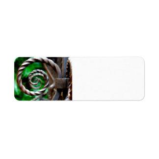 Circular Metal Label