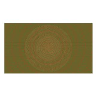 Circular Pattern Green brownish. Business Card Templates