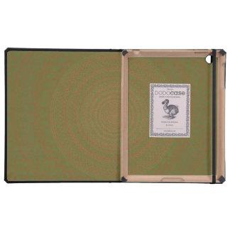 Circular Pattern Green brownish. Case For iPad