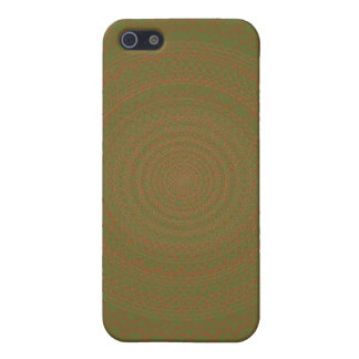 Circular Pattern Green brownish. Cover For iPhone SE/5/5s