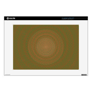"""Circular Pattern Green brownish. Decals For 15"""" Laptops"""