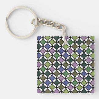 Circular Pattern in Pastel Colors Acrylic Keychain