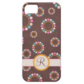 Circular pattern with polka dots Monogram iPhone SE/5/5s Case