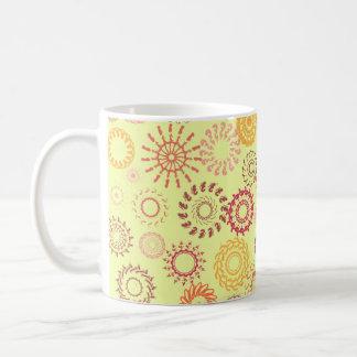 Circular patterns coffee mug