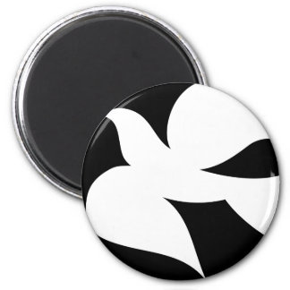 Circular Peace Dove 2 Inch Round Magnet