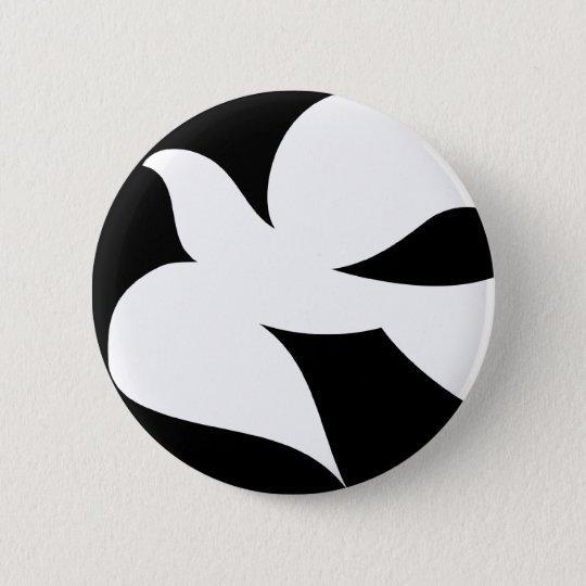 Circular Peace Dove Pinback Button