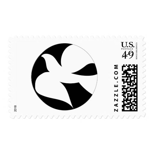 Circular Peace Dove Stamps
