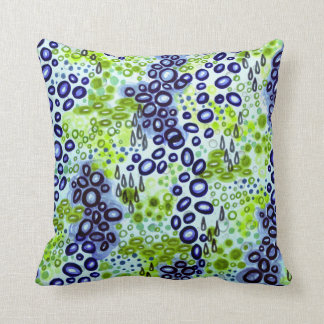 CIRCULAR PERSUASION 2 Neon Tropical Bubble Pattern Pillow
