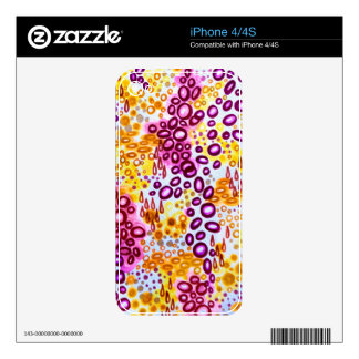 CIRCULAR PERSUASION 3 Neon Tropical Bubble Pattern Skin For iPhone 4S