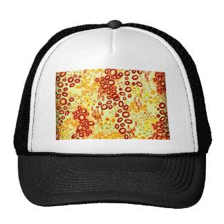 CIRCULAR PERSUASION 4 Orange Red Bubble Pattern Trucker Hat