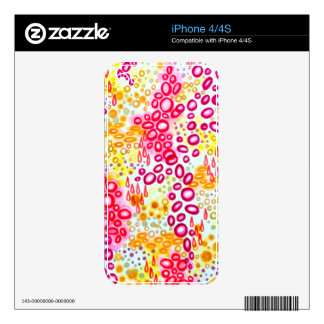 CIRCULAR PERSUASION Island Tropical Bubble Pattern Decals For The iPhone 4S