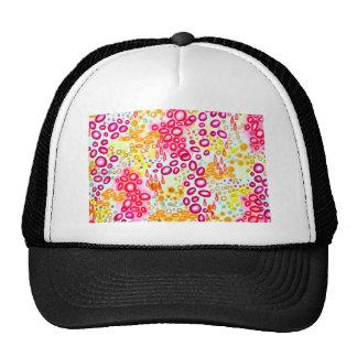 CIRCULAR PERSUASION Island Tropical Bubble Pattern Trucker Hat