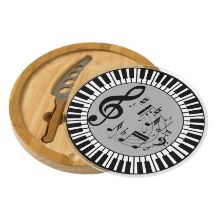 Circular Piano Keys And Music Notes