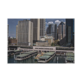 Circular Quay Station Wrapped Canvas