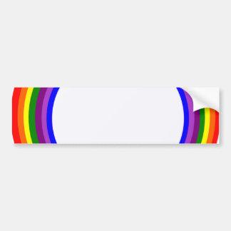 Circular Rainbow design Bumper Sticker