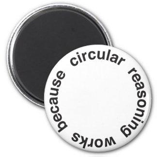 Circular Reasoning 2 Inch Round Magnet