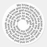 Circular Reasoning (spiral) Classic Round Sticker