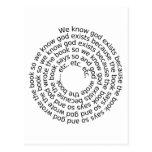 Circular Reasoning (spiral) Postcard