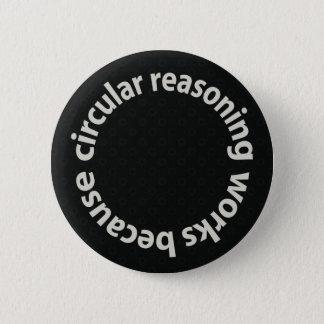 Circular Reasoning Works Because Pin-Back Button