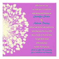 Circular Retro Daisy Wedding Invitation