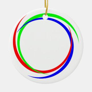 Circular RGB Logo Ceramic Ornament