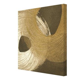 Circular Sandstorm in Tan and Dark Brown Canvas Print