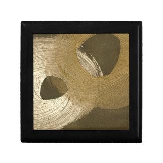 Circular Sandstorm in Tan and Dark Brown Keepsake Box