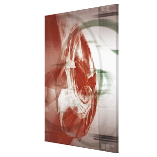 Circular shapes against light background canvas print