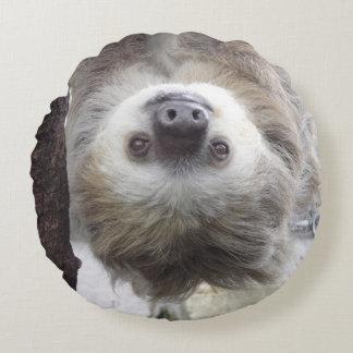 Circular Sloth Throw Pillow