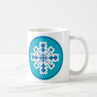 Circular Snowflake Coffee Mug