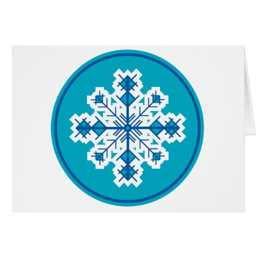 Circular Snowflake Greeting Card