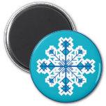 Circular Snowflake Magnets