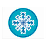 Circular Snowflake Postcard